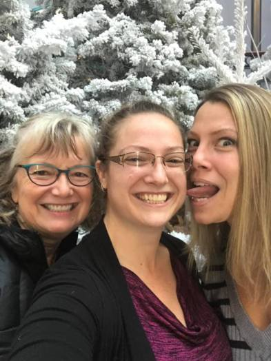 Carolling, laughter, fun, never grow up........I love my goofy daughters